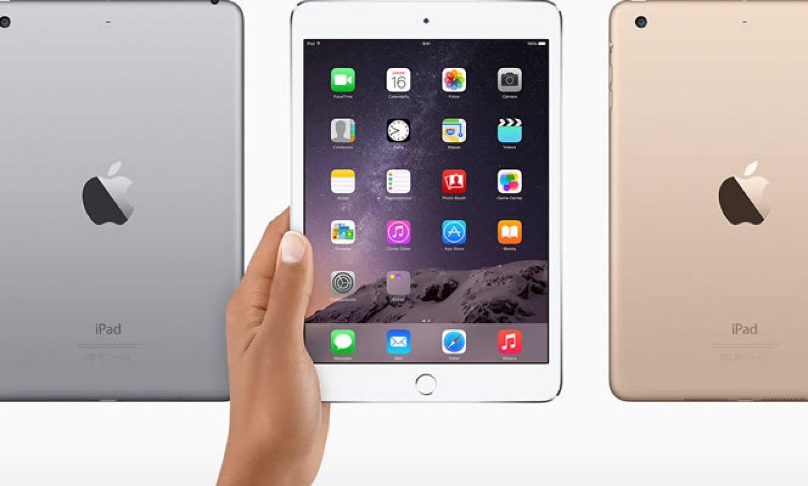 La nueva iPad Mini 3 incluye la tecnología Touch ID, sistema de seguridad que funciona con la huella digital.