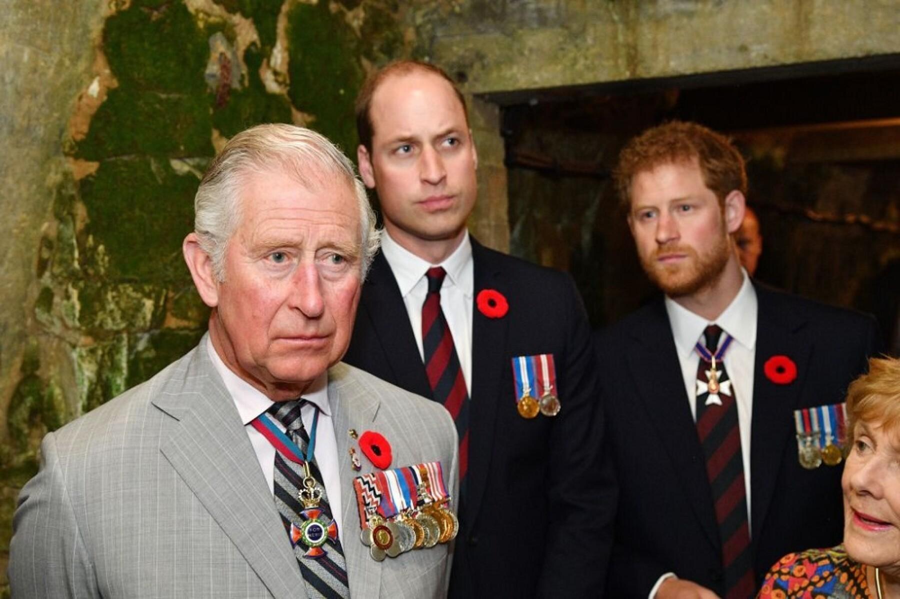 Príncipe Carlos, príncipe William y el príncipe Harry