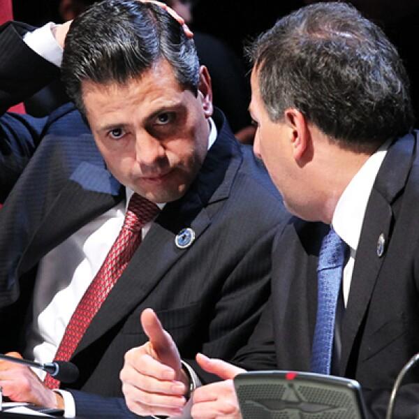 En su primera gira internacional, el 24 de enero Enrique Peña Nieto viajó a Santiago de Chile para asistir a encuentros de la Comunidad de Estados Latinoamericanos y Caribeños y el bloque europeo. En septiembre de 2012 fue a Centro y Sudamérica como presi