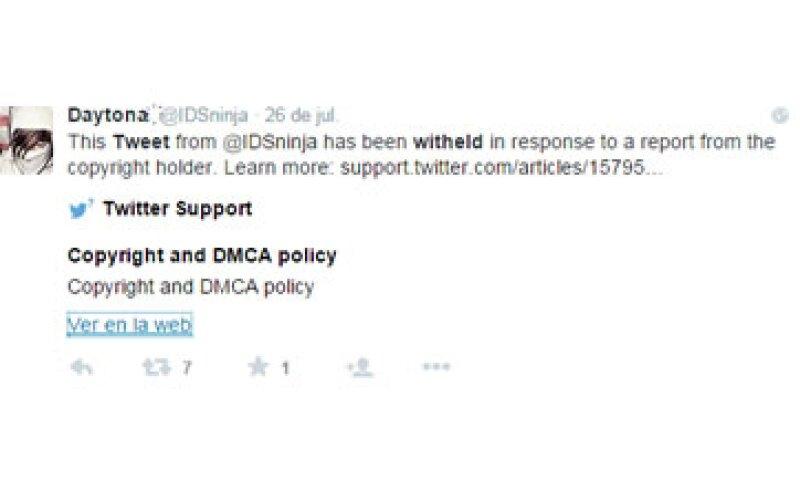 Twitter permite desde su centro de ayuda reportar los tuits robados y retira los de solicitudes que considera válidas. (Foto: Twitter/@IDSninja )