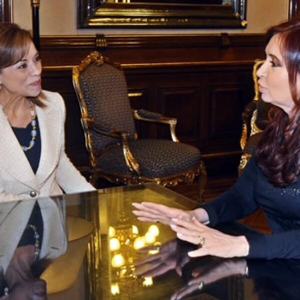 Vázquez Mota se reúne con Cristina Fernández