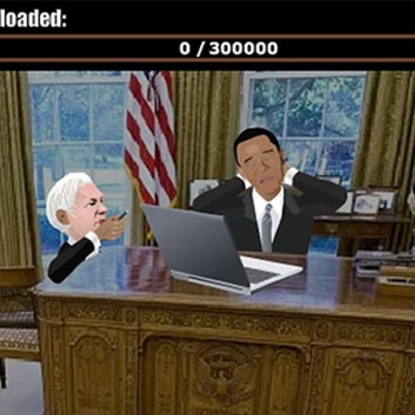 assange videogame videojuego