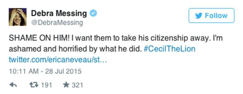 'QUE PENA! Quero que le quiten la ciudadanía. Estoy apenada y horrorizada por lo que hizo. #CecilElLeón'