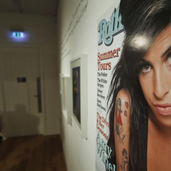 """La exposición """"Amy Winehouse: un retrato familiar"""" se exhibe en el Museo Judío de Londres."""
