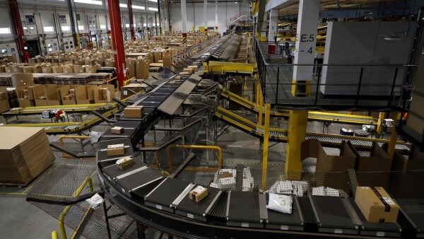 Amazon distribution center in Madrid
