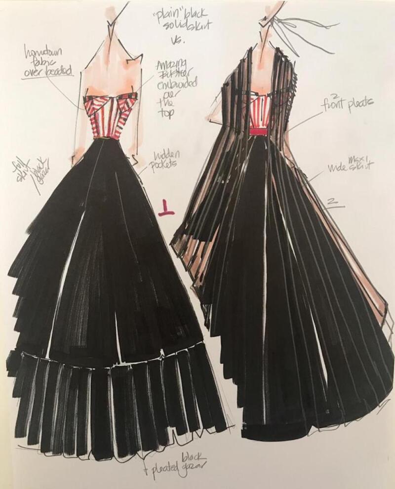 Diseño para Yalitza Aparicio por Sandra Weil