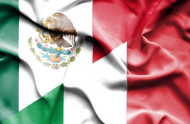italia mexico bandera