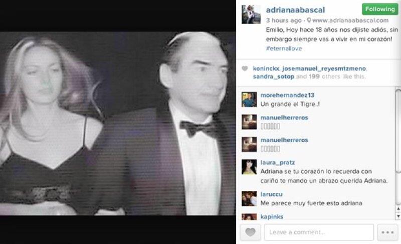 Por medio de una foto de Instagram, la fashion icon recuerda a su ex pareja, Emilio Azcárraga, a 18 años de su muerte.