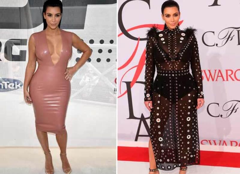 Transparencias y diseños ultra entallados serán seguramente sus elecciones en la espera de su segundo bebé junto a Kanye West, tal como lo hizo la primera ocasión.