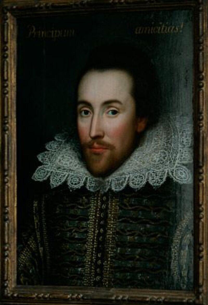 Se cree que la obra es la única imagen auténtica del dramaturgo que se le hiciera en vida.