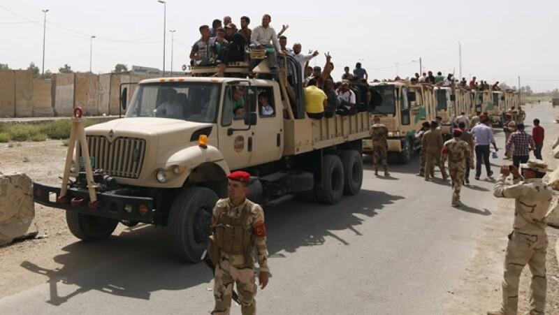 voluntarios ejército de Iraq