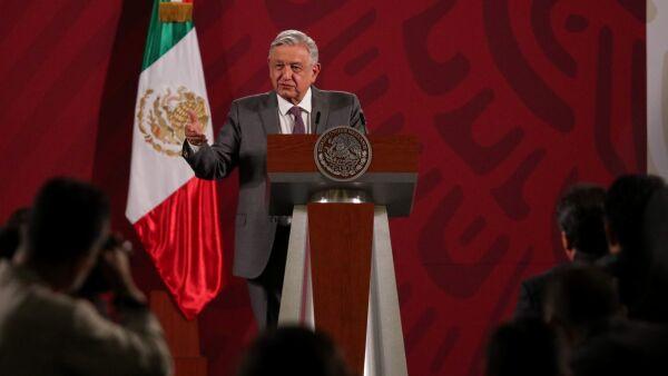 Andrés Manuel López Obrador, presidente de México, durante la conferencia matutina, donde anunció el Plan de Emergencia de cara a la pandemia por Covid-19.