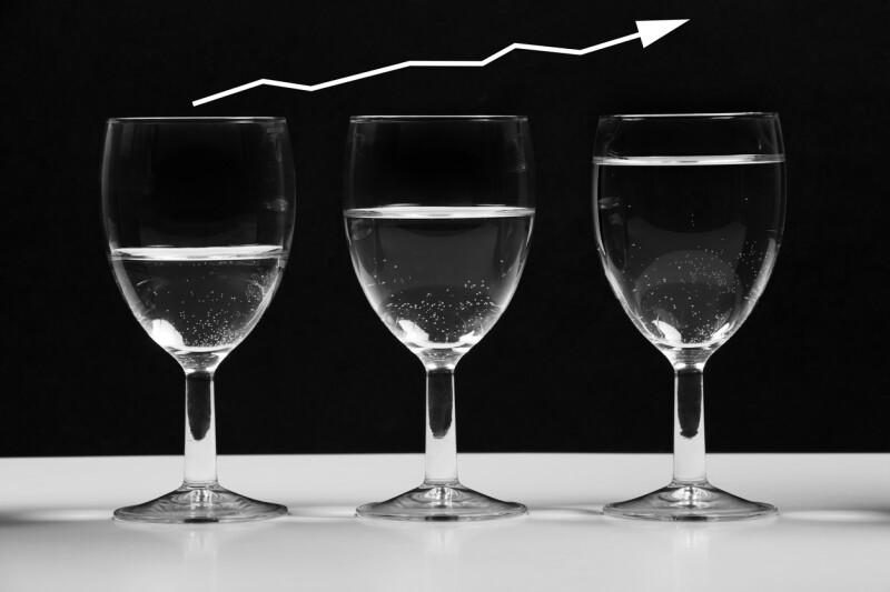 vaso medio lleno o vacío de inversiones