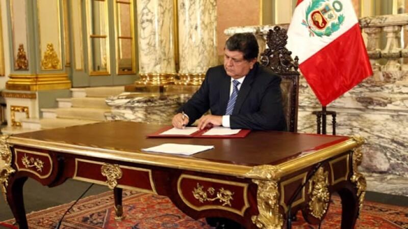 Alan García - presidente de Perú