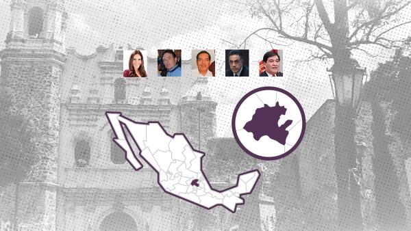 Los hidalguenses elegirán al relevo de su gobernador, Francisco Olvera, entre cinco candidatos.