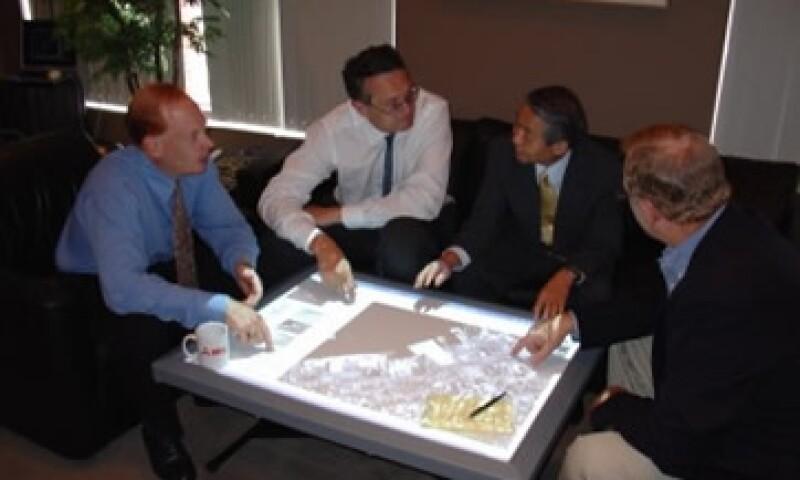 La mesa Diamond Touch fue creada por la empresa automotriz Mitsubishi.  (Foto: Cortesía Fortune)