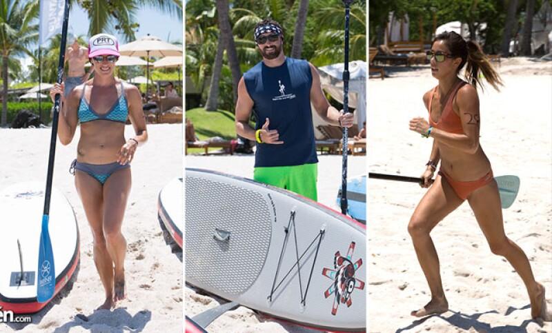 Jessica Cychra, Grant Begley y Keisey Yim durante el Punta Mita Beach Festival del año pasado.