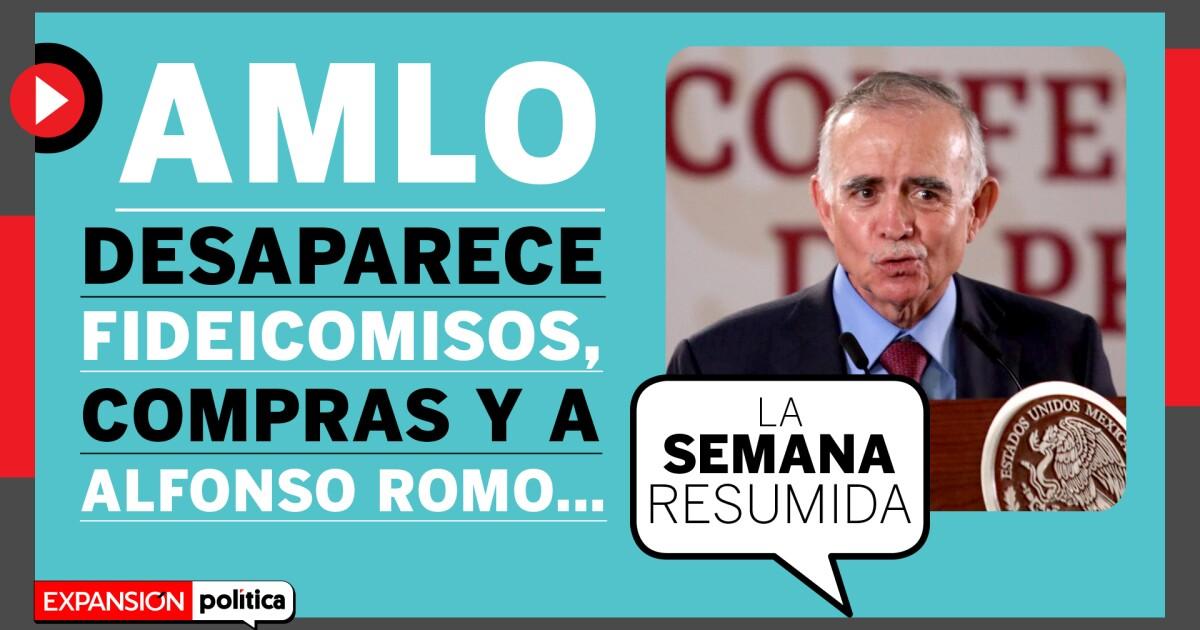 AMLO 2 años, se va Romo y el cubrebocas de López-Gatell en #LaSemanaResumida