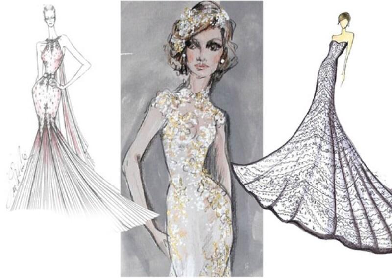Val Stefani, Mac Duggal, Ines Di Santo, Winnie Couture, Junko Yoshioka y Angel Rivera entre los diseñadores que hicieron propuestas para la británica.