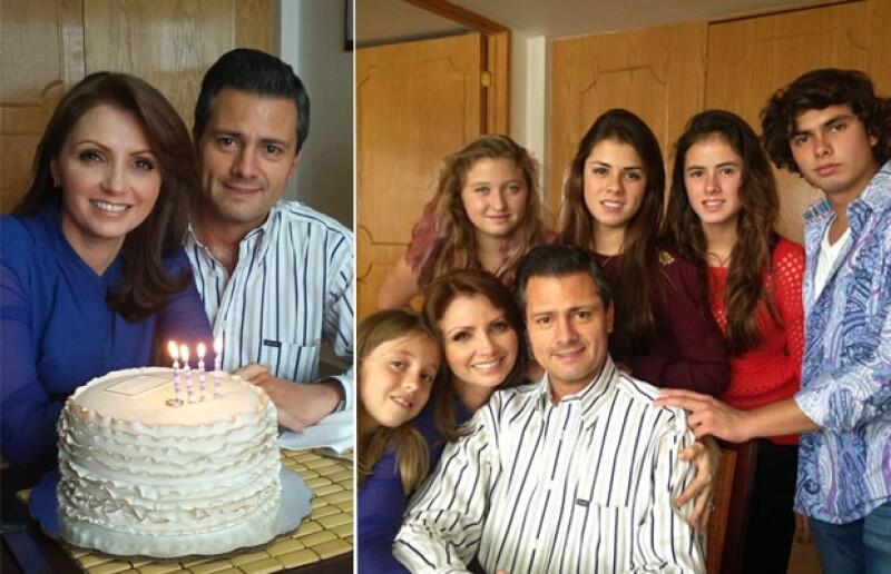 La familia se reunió para partir el tradicional pastel, la ausente fue Sofía Castro.