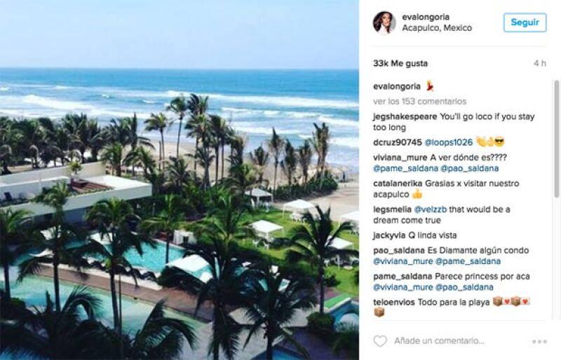 Actualmente Eva se encuentra en Acapulco.