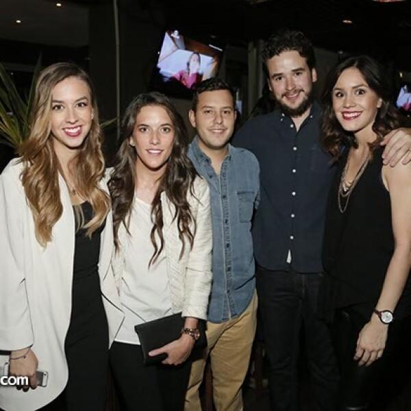 Sabrina Mendoza,Nuria Rodríguez,Francisco Icáza,Antonio Peña y Samantha Mendoza