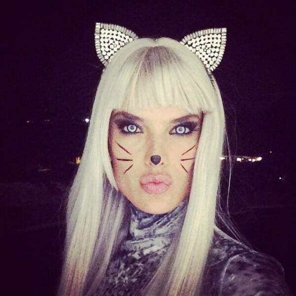 Para este Halloween Alessandra eligió un disfraz típico pero siempre efectivo: el de una gatita.