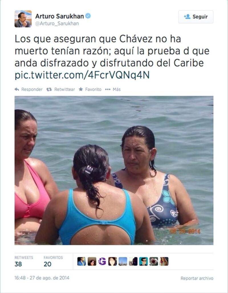 Arturo Sarukhán se unió a quienes señalaron el parecido de una mujer con el fallecido presidente venezolano.