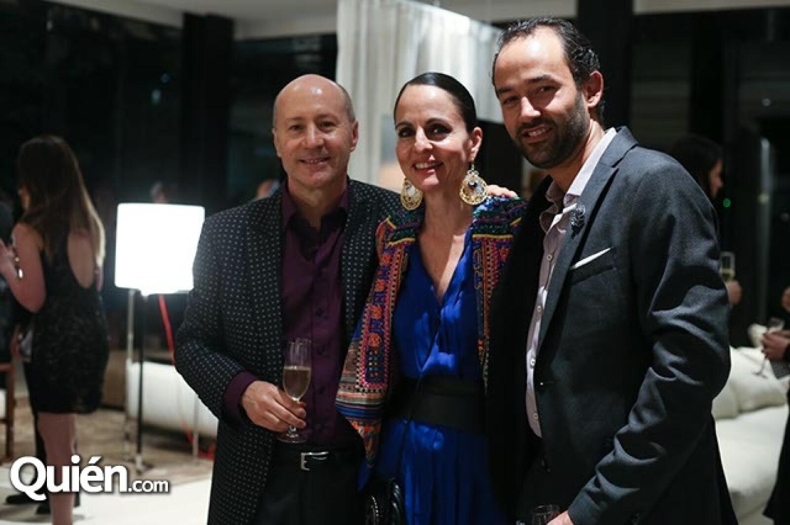 Daniel Álvarez,Ana Luisa Ascencio y Alberto Levy