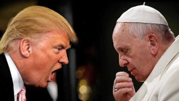 Trump respondió al papa y dijo que su declaración es vergonzosa. (Foto: Especial)