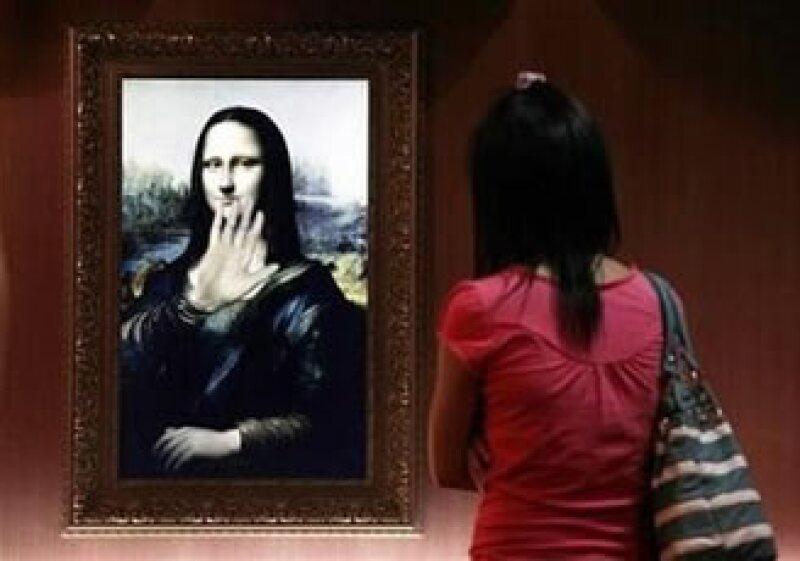 La Mona Lisa digital es la atracción principal, ella habla y saluda a los visitantes que le preguntan su edad y sobre su vida. (Foto: Reuters)