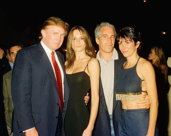 Trump, Knauss, Epstein, & Maxwell At Mar-A-Lago