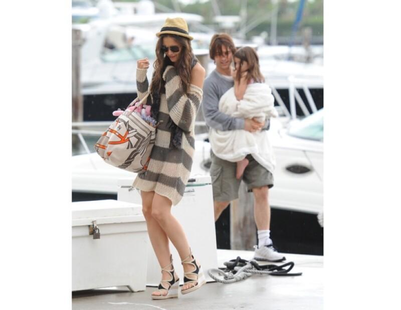 Los actores y su hija, Suri, pasaron un par de días en Miami, donde disfrutaron del mar y de tardes muy divertidas.
