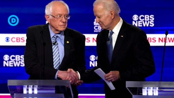 Bernie Sandiers y Joe Biden - asirantes a candidatura demócrata -  partido demócrata