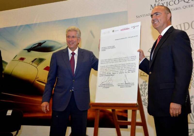 SCT presenta bases de licitaci�n de tren M�xico-Quer�taro