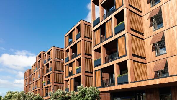 Edificio de madera - construcción - madera-  madera contra el cambio climático