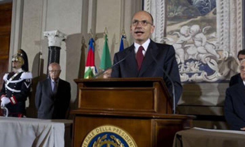 El político de centro izquierda Enrico Letta encabezará el nuevo gobierno italiano. (Foto: Reuters)