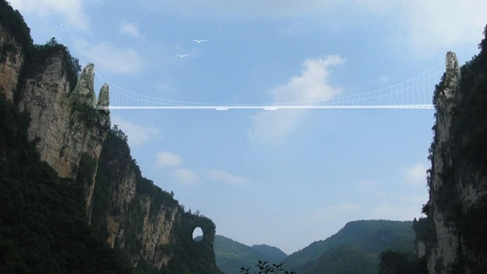 Puente cristal Zhangjiajie China