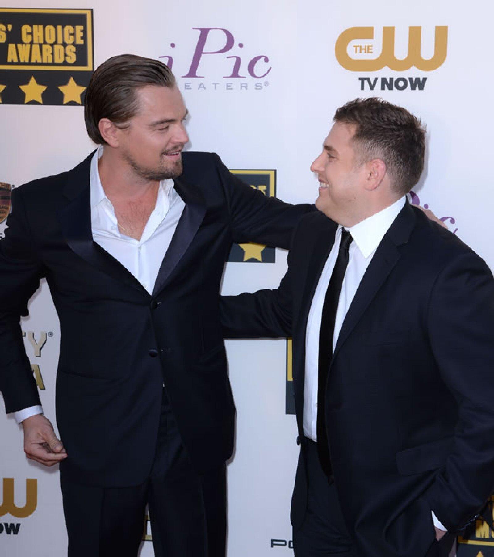 Leonardo DiCaprio y Jonah Hill.