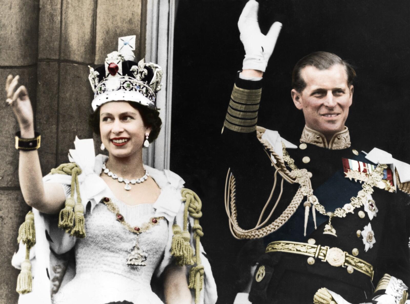Isabel y Felipe en la coronación, 1953