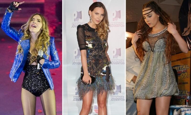 Cómo olvidar estos brillantes y ahora poco usuales outfits de la cantante.