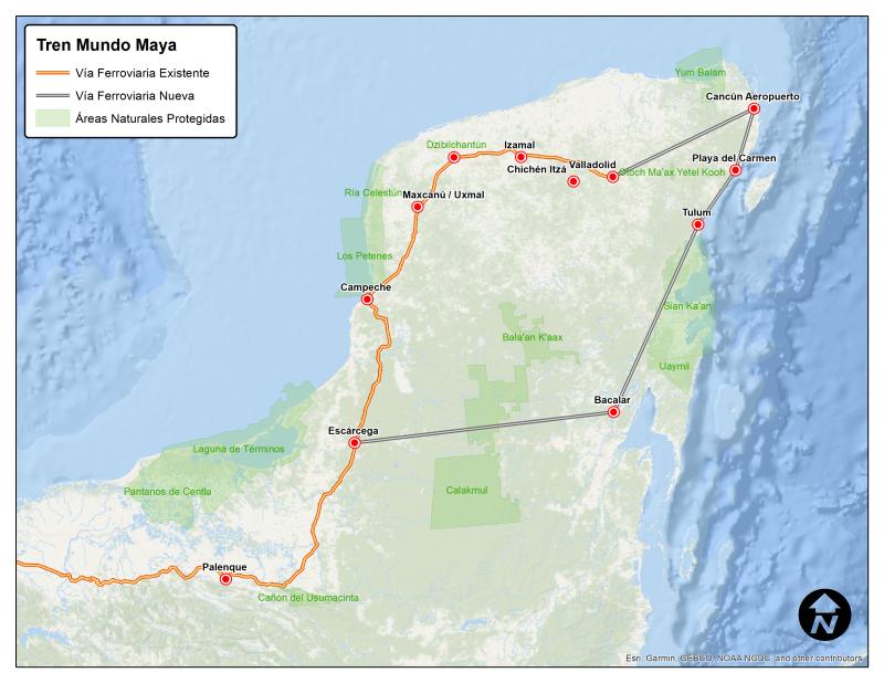 Paso del tren maya