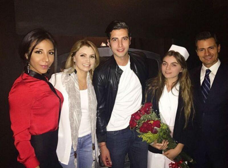 """El presidente de México y la primera dama acudieron la noche del viernes a las instalaciones de Teatro en Corto, donde Sofía protagoniza la obra """"Libre""""."""