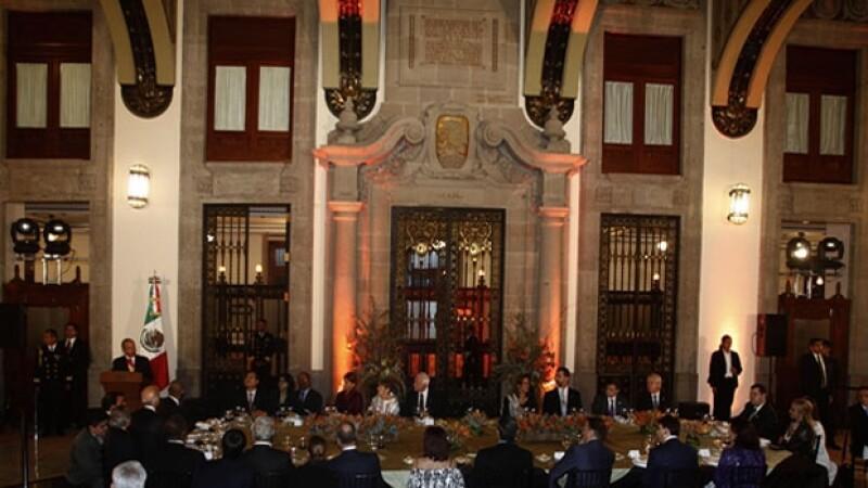 Felipe Calderón ofreció un discurso de agradecimiento.