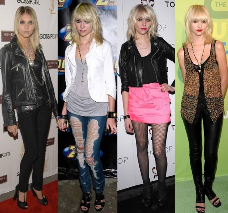 Comenzó con pequeños cambios en su outfit y poco a poco fue agregando elementos más `dark´.