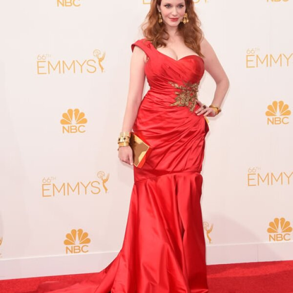 Christina Hendricks en Marchesa