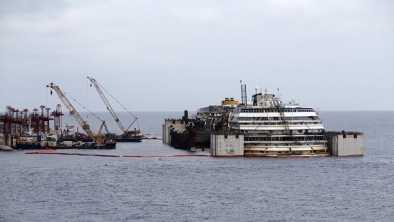 Costa Concordia operación reflote