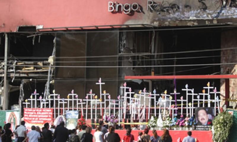 El 25 de agosto un ataque del crimen organizado al casino Royale acabó con la vida de 53 personas. (Foto: Notimex)