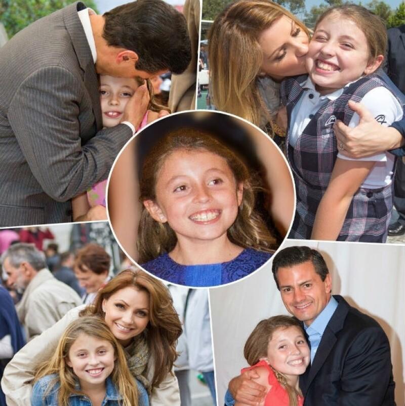 Angélica Rivera compartió fotos de Regina junto a ella y su esposo, el presidente Peña Nieto.