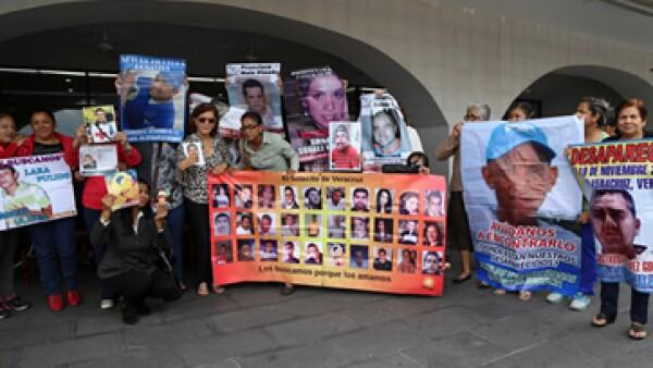 Familiares de los 5 jóvenes desaparecidos exigen la renuncia del secretario de Seguridad Pública de Veracruz. (Foto: Cuartoscuro/Archivo)
